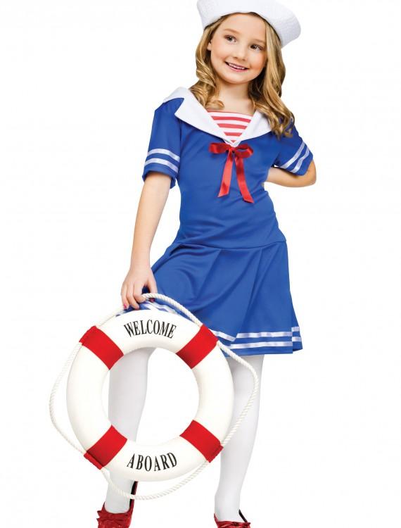 Girls Sweet Sailor Costume, halloween costume (Girls Sweet Sailor Costume)
