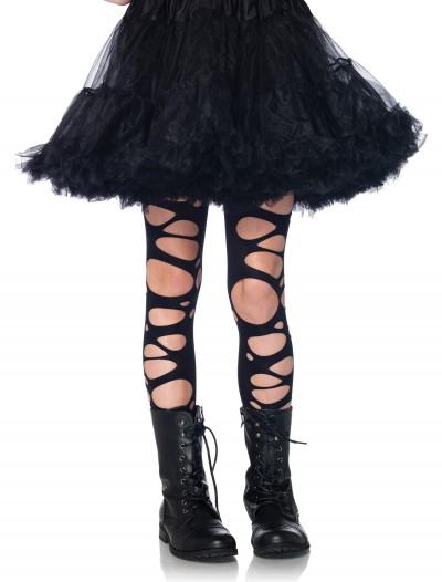 Girls Tattered Gothic Tights, halloween costume (Girls Tattered Gothic Tights)