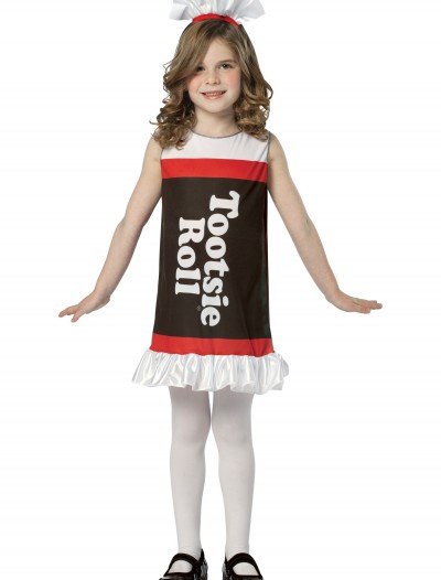 Girls Tootsie Roll Dress, halloween costume (Girls Tootsie Roll Dress)