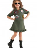 Girls Top Gun Flight Dress, halloween costume (Girls Top Gun Flight Dress)