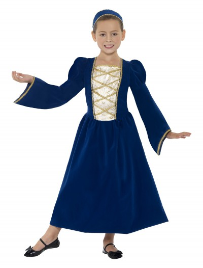Girls Tudor Princess Costume, halloween costume (Girls Tudor Princess Costume)
