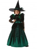 Girls Emerald Witch Costume, halloween costume (Girls Emerald Witch Costume)