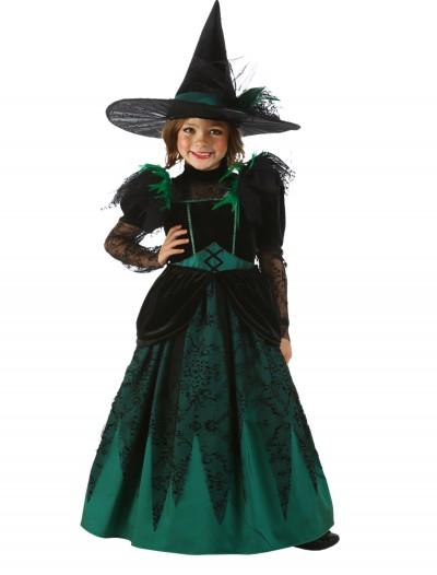 Girls Emerald Witch Costume, halloween costume (Girls Emerald Witch Costume)