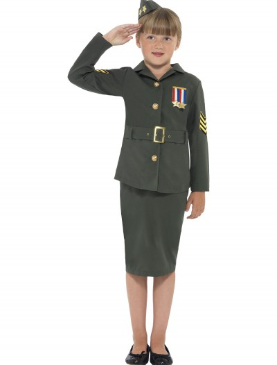 Girls WW2 Army Costume, halloween costume (Girls WW2 Army Costume)