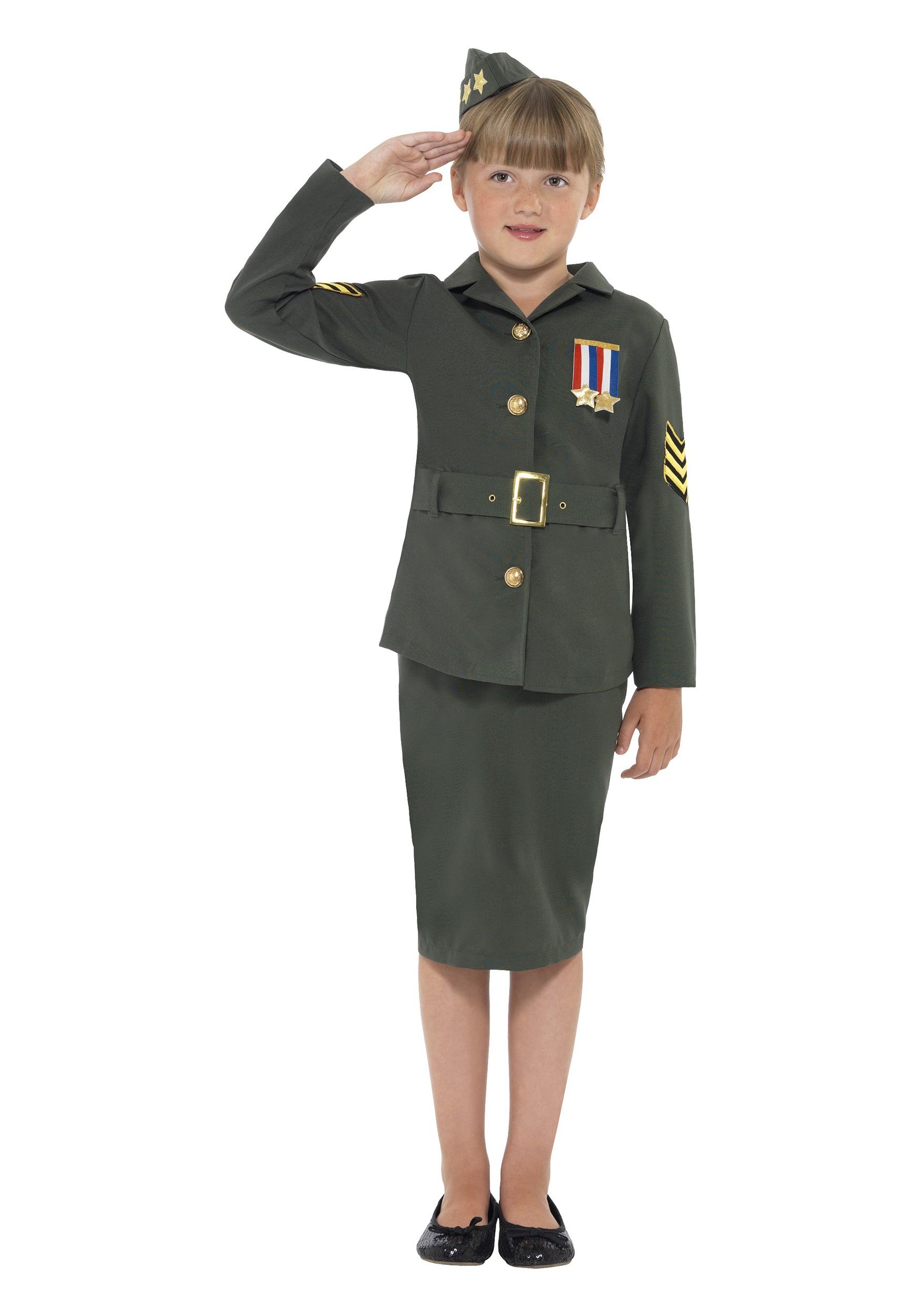 Girls WW2 Army Costume  sc 1 st  Halloween Costumes & Girls WW2 Army Costume - Halloween Costumes