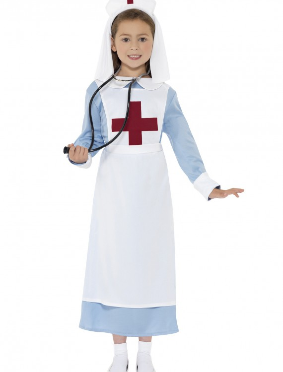 Girls WWI Nurse Costume, halloween costume (Girls WWI Nurse Costume)
