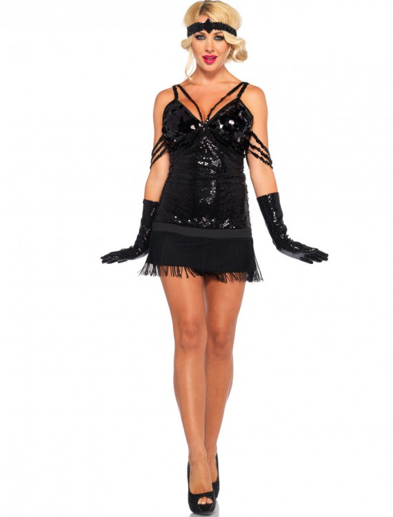 Glam Flapper Adult Costume, halloween costume (Glam Flapper Adult Costume)