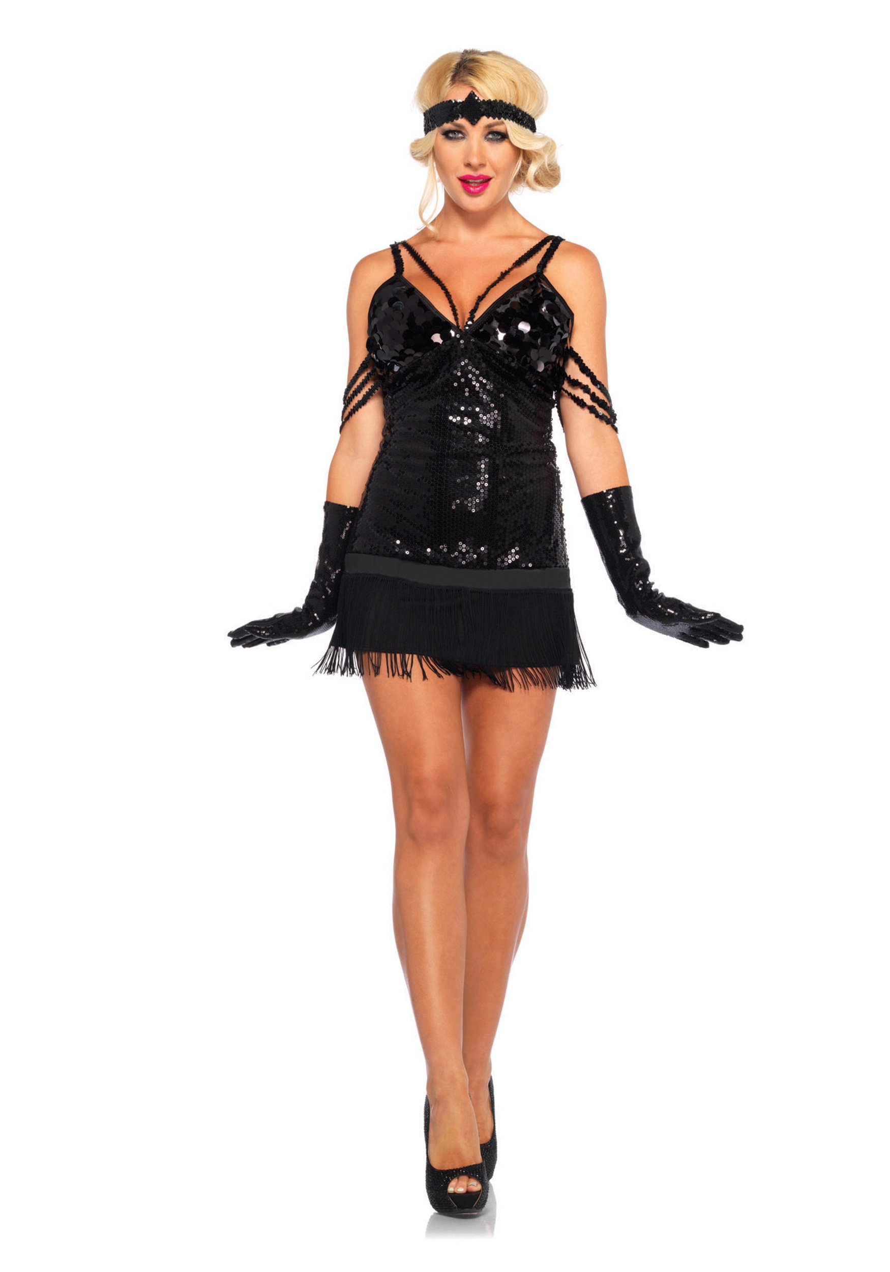 glam flapper adult costume