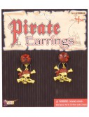 Glitter Pirate Earrings, halloween costume (Glitter Pirate Earrings)