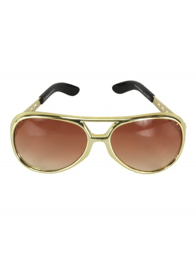 Gold Elvis Glasses, halloween costume (Gold Elvis Glasses)