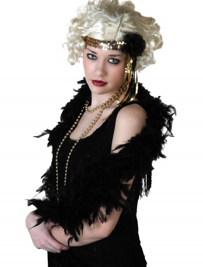 Gold Flapper Headband, halloween costume (Gold Flapper Headband)