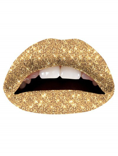 Gold Glitterati Lip Applique, halloween costume (Gold Glitterati Lip Applique)