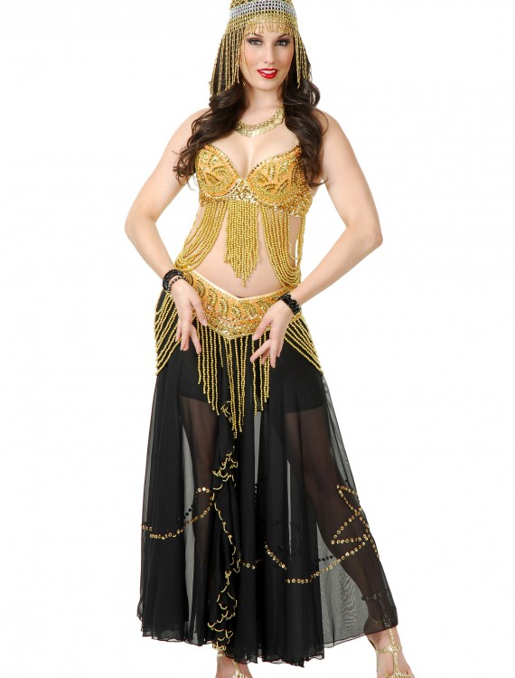 Golden Belly Dancer Costume, halloween costume (Golden Belly Dancer Costume)