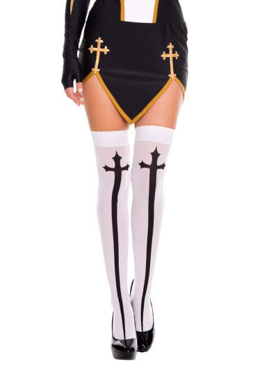 Gothic Cross Thigh High Stockings, halloween costume (Gothic Cross Thigh High Stockings)