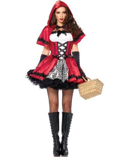 Gothic Red Riding Hood Adult Costume, halloween costume (Gothic Red Riding Hood Adult Costume)
