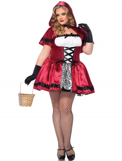Gothic Red Riding Hood Plus Size Costume, halloween costume (Gothic Red Riding Hood Plus Size Costume)