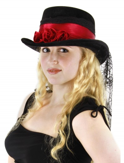 Gothic Rose Top Hat, halloween costume (Gothic Rose Top Hat)