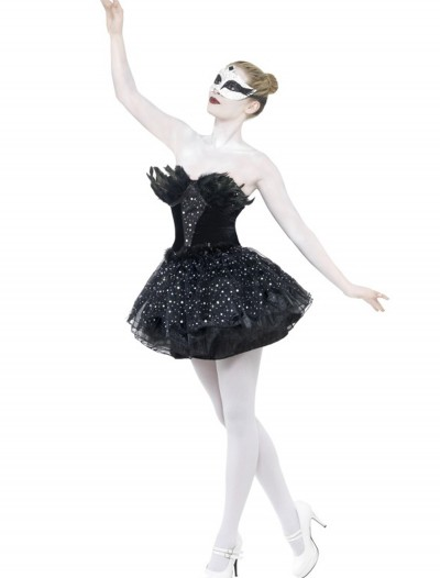 Gothic Swan Masquerade Costume, halloween costume (Gothic Swan Masquerade Costume)
