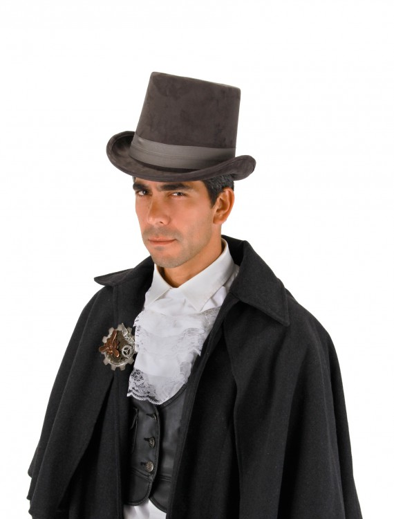 Gray Coachman Hat, halloween costume (Gray Coachman Hat)