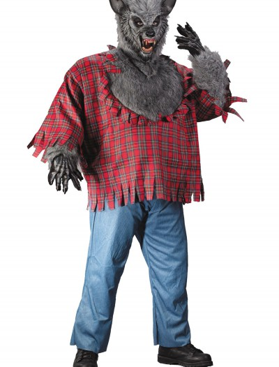 Gray Plus Size Werewolf Costume, halloween costume (Gray Plus Size Werewolf Costume)