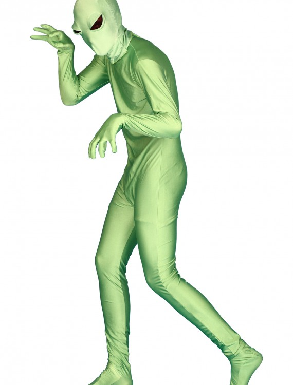 Green Alien Skin Suit, halloween costume (Green Alien Skin Suit)