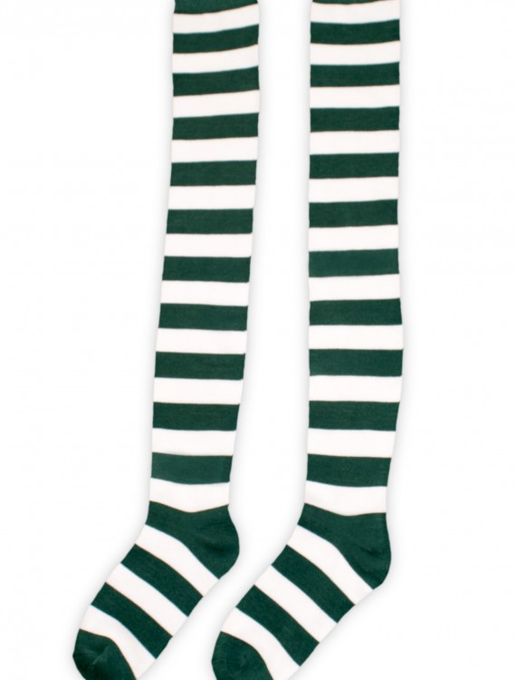 Green and White Munchkin Socks, halloween costume (Green and White Munchkin Socks)