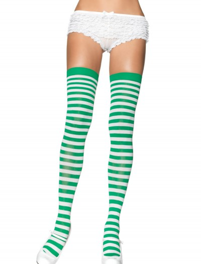 Green and White Nylon Stockings, halloween costume (Green and White Nylon Stockings)