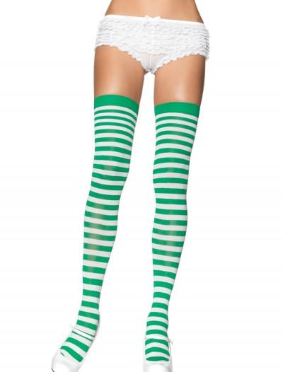 Green and White Nylon Stockings, halloween costume (Green and White Nylon Stockings)