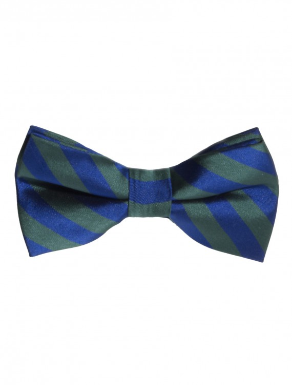 Green/Blue Striped Bow Tie, halloween costume (Green/Blue Striped Bow Tie)