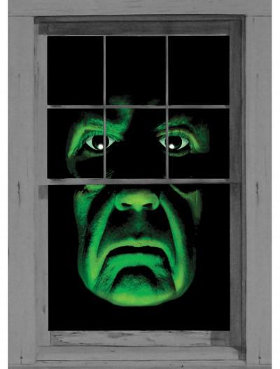 Green Demon Window Cling, halloween costume (Green Demon Window Cling)
