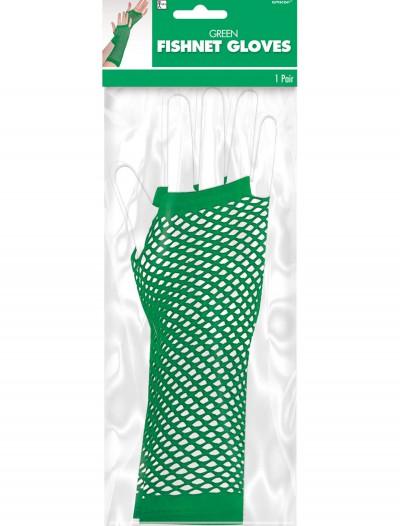 Green Fishnet Long Gloves, halloween costume (Green Fishnet Long Gloves)