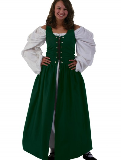 Green Irish Renaissance Dress, halloween costume (Green Irish Renaissance Dress)