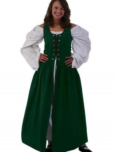 Green Irish Renaissance Dress, halloween costume (Green Irish Renaissance Dress)