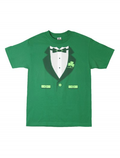 Green Irish Tuxedo T-Shirt, halloween costume (Green Irish Tuxedo T-Shirt)