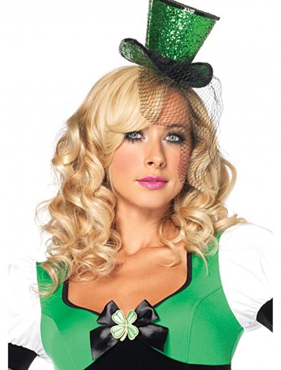 Green Mini Top Hat, halloween costume (Green Mini Top Hat)