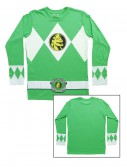 Green Power Rangers Long Sleeve Costume Shirt, halloween costume (Green Power Rangers Long Sleeve Costume Shirt)
