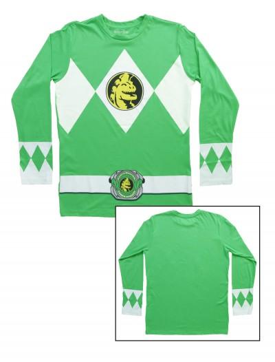 Green Power Rangers Long Sleeve Costume Shirt, halloween costume (Green Power Rangers Long Sleeve Costume Shirt)