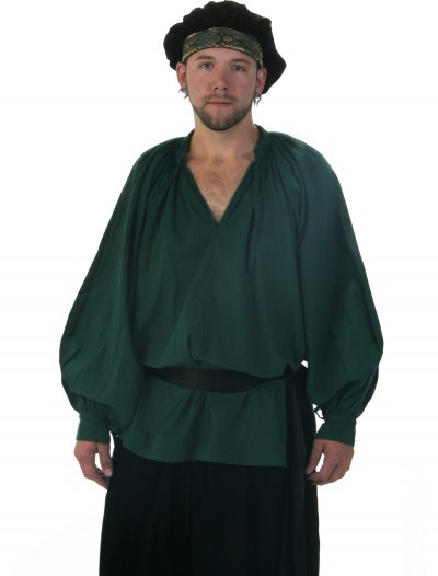 Green Renaissance Shirt, halloween costume (Green Renaissance Shirt)