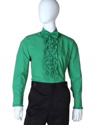 Green Ruffled Tuxedo Shirt, halloween costume (Green Ruffled Tuxedo Shirt)
