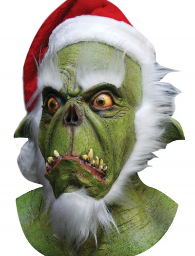 Green Santa Mask, halloween costume (Green Santa Mask)