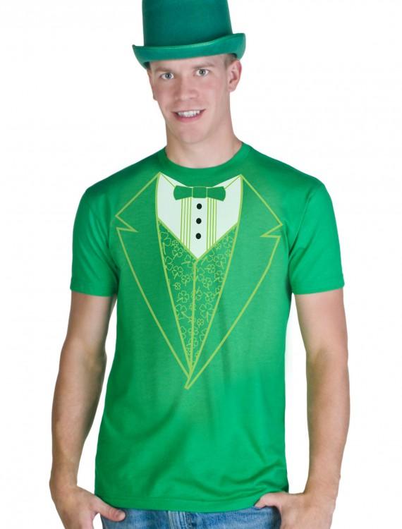 Green Tuxedo Costume T-Shirt, halloween costume (Green Tuxedo Costume T-Shirt)