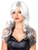 Grey and White Two Toned Wig, halloween costume (Grey and White Two Toned Wig)