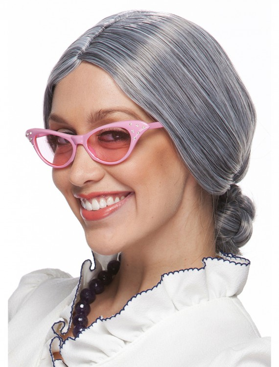 Grey Old Lady Wig, halloween costume (Grey Old Lady Wig)