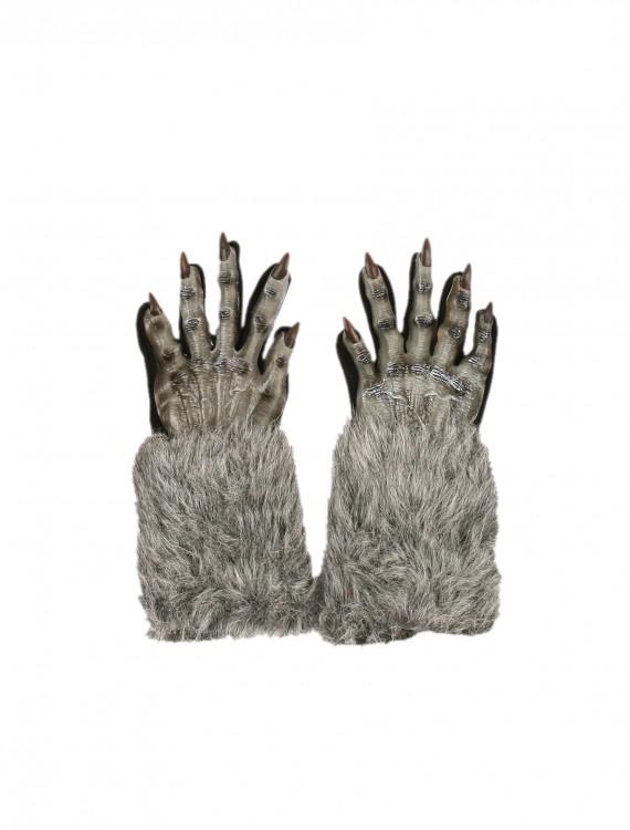 Grey Werewolf Gloves, halloween costume (Grey Werewolf Gloves)