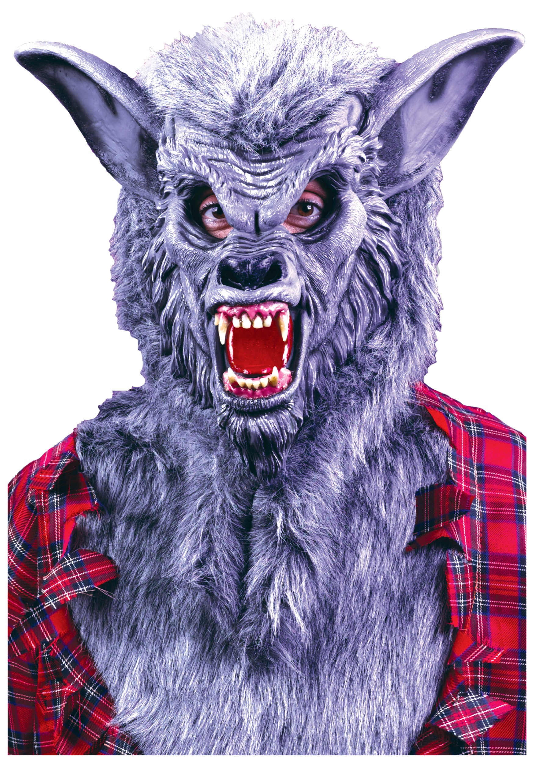 grey werewolf mask - halloween costumes
