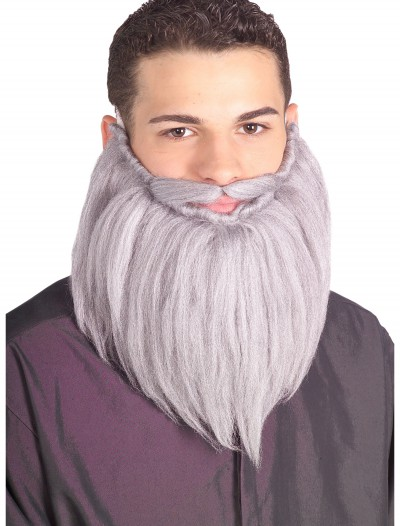 Grey Wizard Beard and Mustache, halloween costume (Grey Wizard Beard and Mustache)