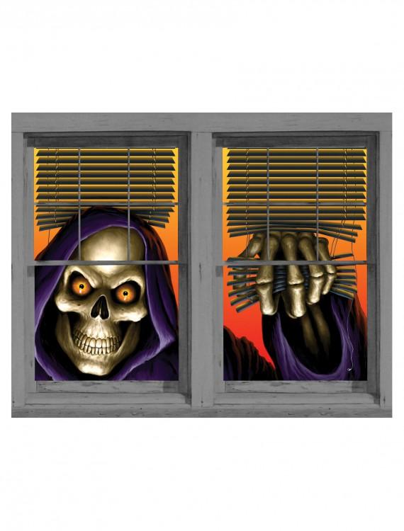 Grim Reaper Double Window Cling, halloween costume (Grim Reaper Double Window Cling)