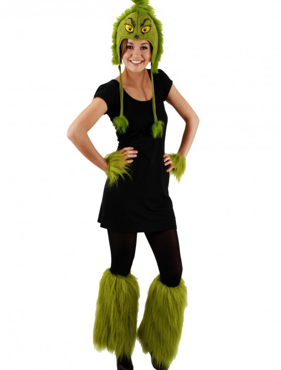 Grinch Fuzzy Leg Warmers, halloween costume (Grinch Fuzzy Leg Warmers)