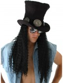 Guitar Superstar Hat w/Hair, halloween costume (Guitar Superstar Hat w/Hair)