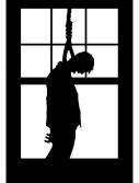 Hanging Man Window Cling, halloween costume (Hanging Man Window Cling)